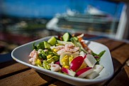 Salad from the self service buffet, Celebrity Silhouette