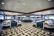 Ovation of the Seas. Windjammer Marketplace restaurant.