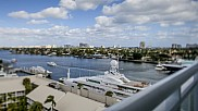 Fort Lauderdale channel seen from balcony of Hilton