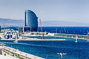 Hotel W, by the port of Barcelona, Spain.