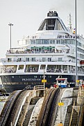 Prinsendam in the Panama Canal