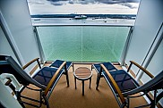 Ovation of the Seas. Stateroom balcony. Southampton.