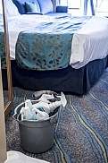 Allure of the Seas. Cleaning stuff in stateroom.