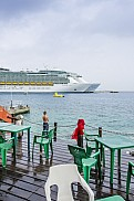 Navigator of the Seas and Allure of the Seas (behind). Cozumel.