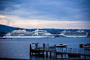 MS Europa and Emerald Princess (backgr) in Oslo