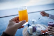 Breakfast at balcony. Celebrity Solstice.