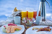 Breakfast at stateroom balcony, Silhouette