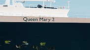 Queen Mary 2 passing.